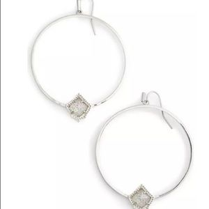 NWT Kendra Scott Elberta Hoop Earrings Irridescent